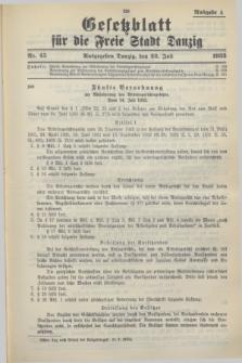 Gesetzblatt für die Freie Stadt Danzig.1933, Nr. 45 (22 Juli) - Ausgabe A