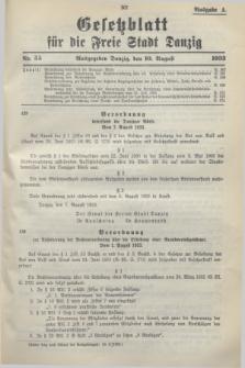 Gesetzblatt für die Freie Stadt Danzig.1933, Nr. 55 (10 August) - Ausgabe A