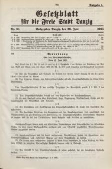 Gesetzblatt für die Freie Stadt Danzig.1935, Nr. 65 (26 Juni) - Ausgabe A