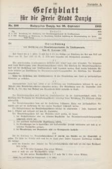 Gesetzblatt für die Freie Stadt Danzig.1935, Nr. 100 (26 September) - Ausgabe A