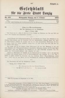 Gesetzblatt für die Freie Stadt Danzig.1935, Nr. 103 (4 October) - Ausgabe A