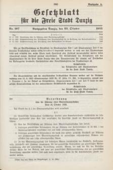 Gesetzblatt für die Freie Stadt Danzig.1935, Nr. 107 (23 October) - Ausgabe A