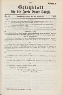 Gesetzblatt für die Freie Stadt Danzig.1935, Nr. 113 (19 November) - Ausgabe A