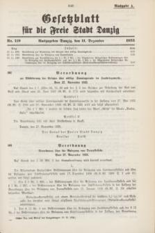 Gesetzblatt für die Freie Stadt Danzig.1935, Nr. 119 (11 Dezember) - Ausgabe A