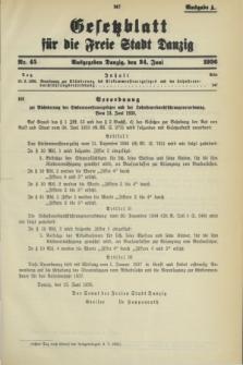 Gesetzblatt für die Freie Stadt Danzig.1936, Nr. 45 (24 Juni) - Ausgabe A