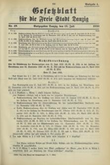 Gesetzblatt für die Freie Stadt Danzig.1936, Nr. 48 (13 Juli) - Ausgabe A