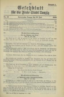 Gesetzblatt für die Freie Stadt Danzig.1936, Nr. 50 (18 Juli) - Ausgabe A