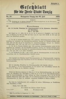 Gesetzblatt für die Freie Stadt Danzig.1936, Nr. 52 (23 Juli) - Ausgabe A