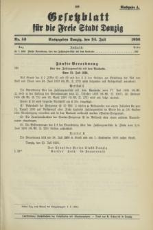 Gesetzblatt für die Freie Stadt Danzig.1936, Nr. 53 (24 Juli) - Ausgabe A