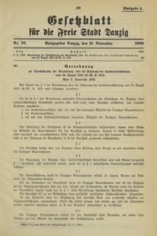 Gesetzblatt für die Freie Stadt Danzig.1936, Nr. 76 (11 November) - Ausgabe A