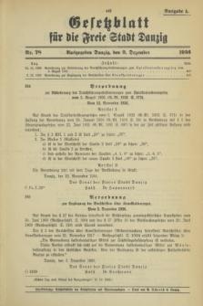 Gesetzblatt für die Freie Stadt Danzig.1936, Nr. 78 (9 Dezember) - Ausgabe A