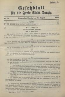 Gesetzblatt für die Freie Stadt Danzig.1938, Nr. 50 (31 August) - Ausgabe A