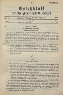Gesetzblatt für die Freie Stadt Danzig.1938, Nr. 61 (24 September) - Ausgabe A