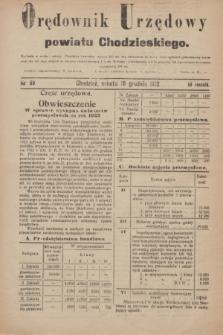 Orędownik Urzędowy powiatu Chodzieskiego. R.69, nr 89 (16 grudnia 1922)