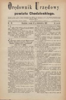 Orędownik Urzędowy powiatu Chodzieskiego. R.70, nr 70 (31 października 1923)