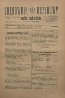 Orędownik Urzędowy powiatu chodzieskiego. R.72, nr 31 (22 kwietnia 1925)