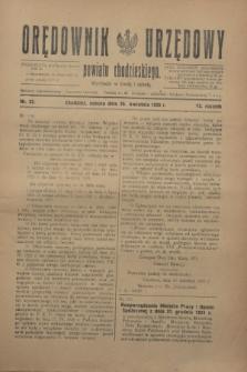 Orędownik Urzędowy powiatu chodzieskiego. R.72, nr 32 (25 kwietnia 1925)