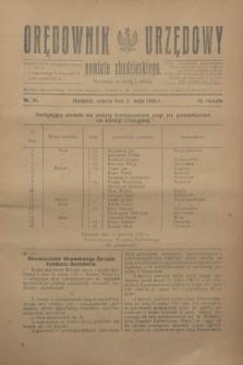 Orędownik Urzędowy powiatu chodzieskiego. R.72, nr 34 (2 maja 1925)