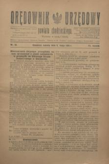 Orędownik Urzędowy powiatu chodzieskiego. R.72, nr 36 (9 maja 1925)