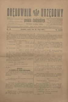 Orędownik Urzędowy powiatu chodzieskiego. R.72, nr 39 (20 maja 1925)