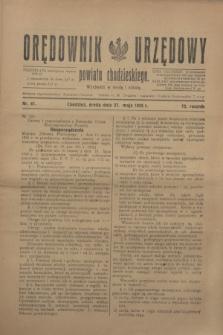 Orędownik Urzędowy powiatu chodzieskiego. R.72, nr 41 (27 maja 1925)
