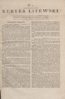Kuryer Litewski. 1818, nr 3 (8 stycznia) + dod.