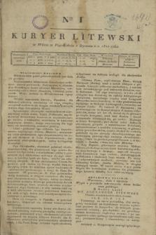 Kuryer Litewski. 1820, Ner 1 (2 stycznia) + dod.