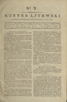 Kuryer Litewski. 1820, Ner 2 (5 stycznia) + dod.