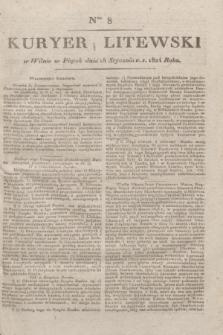Kuryer Litewski. 1824, Ner 8 (18 stycznia) + dod.