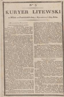 Kuryer Litewski. 1829, Ner 3 (7 stycznia) + dod.