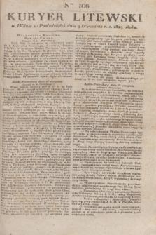 Kuryer Litewski. 1829, Ner 108 (9 września) + dod.