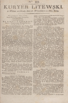 Kuryer Litewski. 1829, Ner 115 (25 września) + dod.