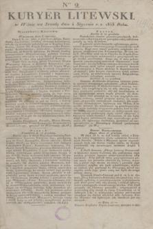 Kuryer Litewski. 1833, Ner 2 (4 stycznia) + dod.
