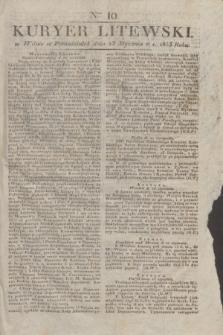 Kuryer Litewski. 1833, Ner 10 (23 stycznia) + dod.