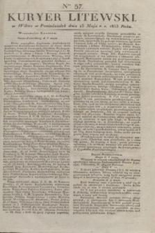 Kuryer Litewski. 1833, Ner 57 (15 maja) + dod.
