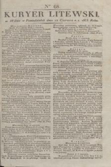 Kuryer Litewski. 1833, Ner 68 (12 czerwca) + dod.