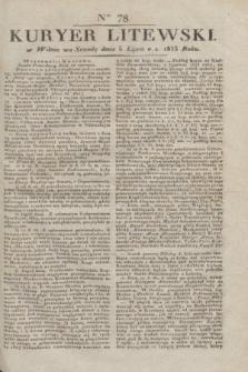 Kuryer Litewski. 1833, Ner 78 (5 lipca) + dod.