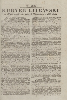 Kuryer Litewski. 1833, Ner 108 (13 września) + dod.