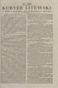 Kuryer Litewski. 1833, Ner 110 (18 września) + dod.