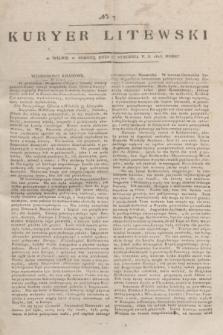 Kuryer Litewski. 1815, nr 7 (23 stycznia) + dod.