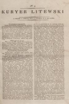 Kuryer Litewski. 1815, nr 9 (30 stycznia) + dod.