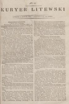 Kuryer Litewski. 1815, nr 27 (3 kwietnia) + dod.