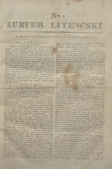 Kuryer Litewski. 1812, Nro 7 (24 stycznia)