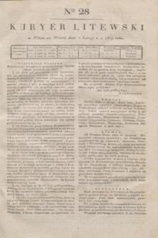 Kuryer Litewski. 1819, Ner 28 (4 lutego) + dod.