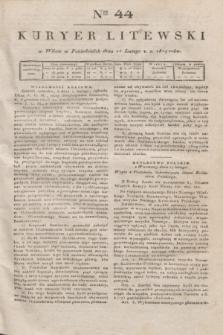 Kuryer Litewski. 1819, Ner 44 (24 lutego) + dod.
