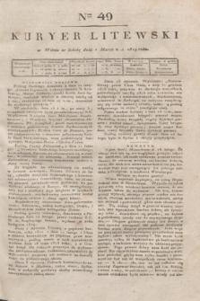 Kuryer Litewski. 1819, Ner 49 (1 marca) + dod.