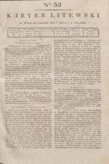 Kuryer Litewski. 1819, Ner 52 (6 marca) + dod.