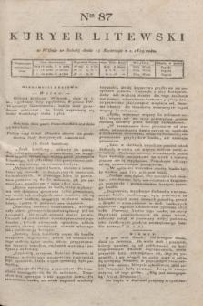 Kuryer Litewski. 1819, Ner 87 (19 kwietnia) + dod.