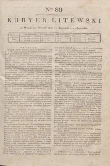 Kuryer Litewski. 1819, Ner 89 (22 kwietnia) + dod.
