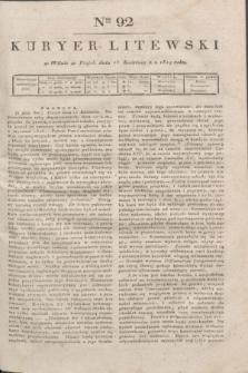 Kuryer Litewski. 1819, Ner 92 (25 kwietnia) + dod.